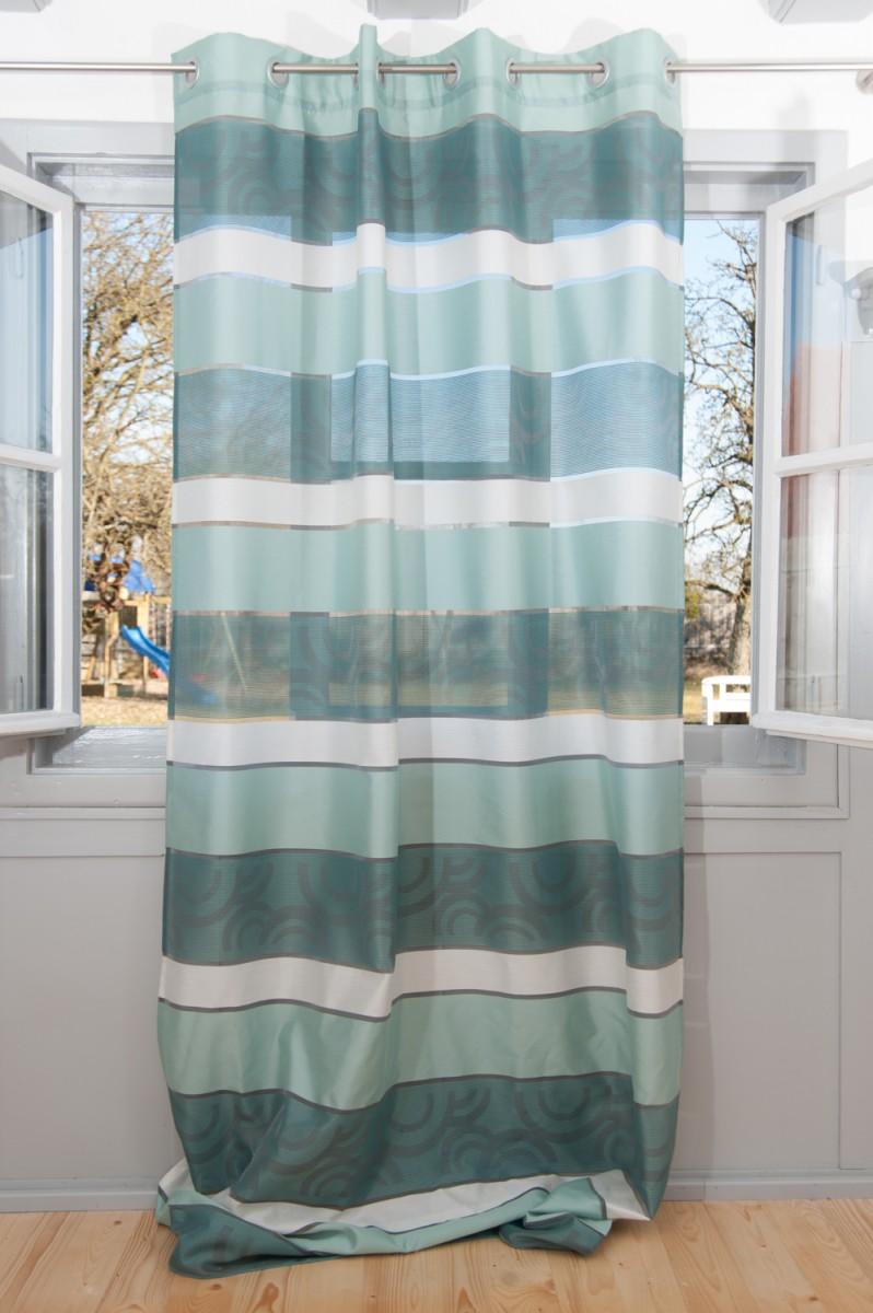 senschal fertigvorhang vorhang colorado t rkis grau 144x245cm fertiggardinen senschals. Black Bedroom Furniture Sets. Home Design Ideas