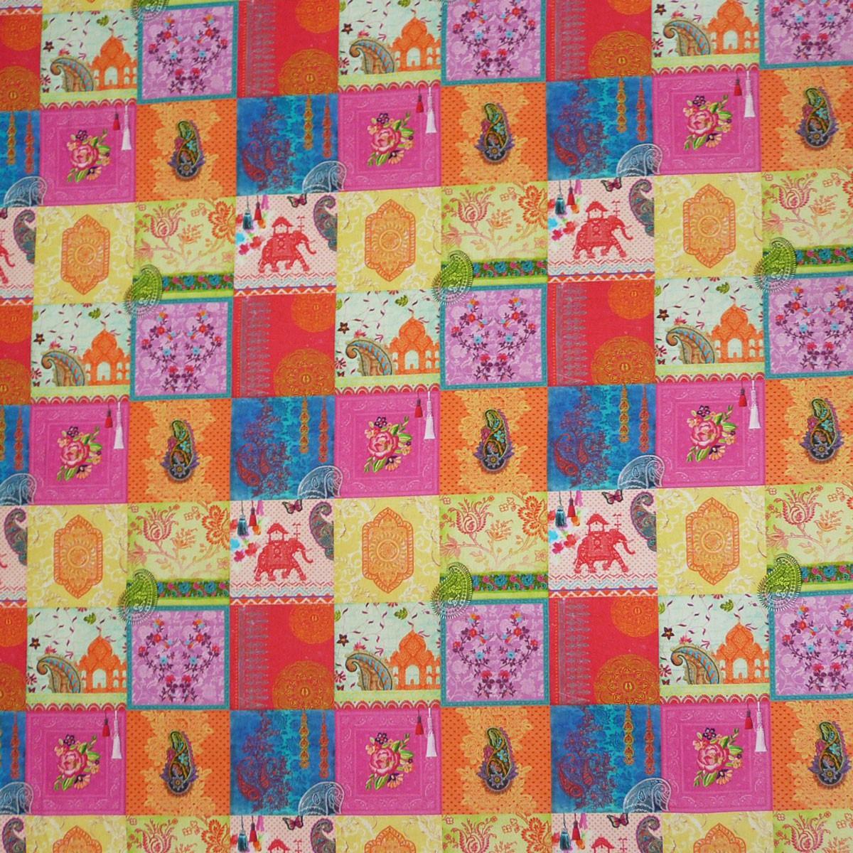 baumwollstoff patchwork orientalisch stoff dekostoff digitaldruck gardinenstoffe dekostoffe. Black Bedroom Furniture Sets. Home Design Ideas