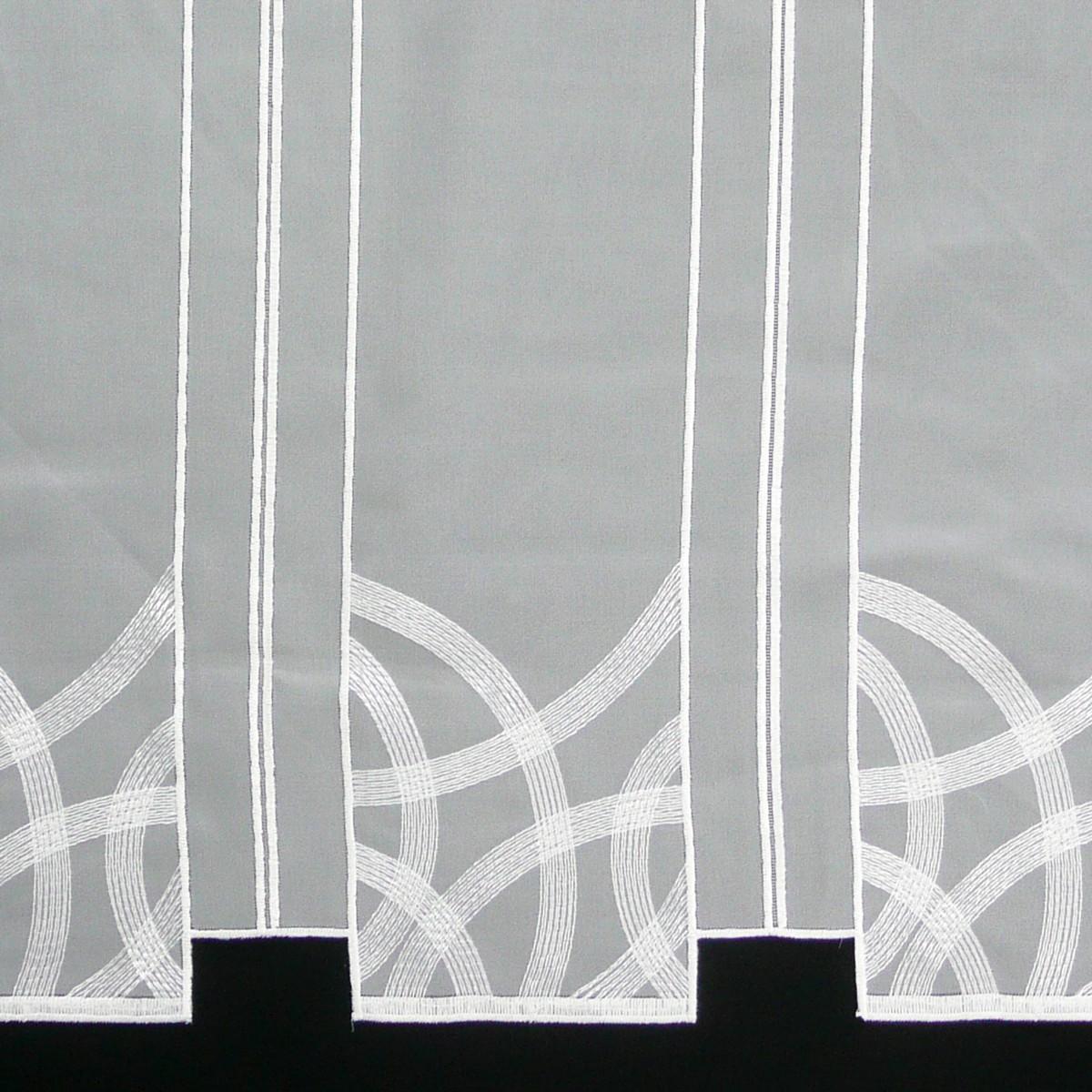 scheibengardine voile mit stickerei wei 60cm hoch gardinenstoffe stoffe f r scheibengardinen. Black Bedroom Furniture Sets. Home Design Ideas