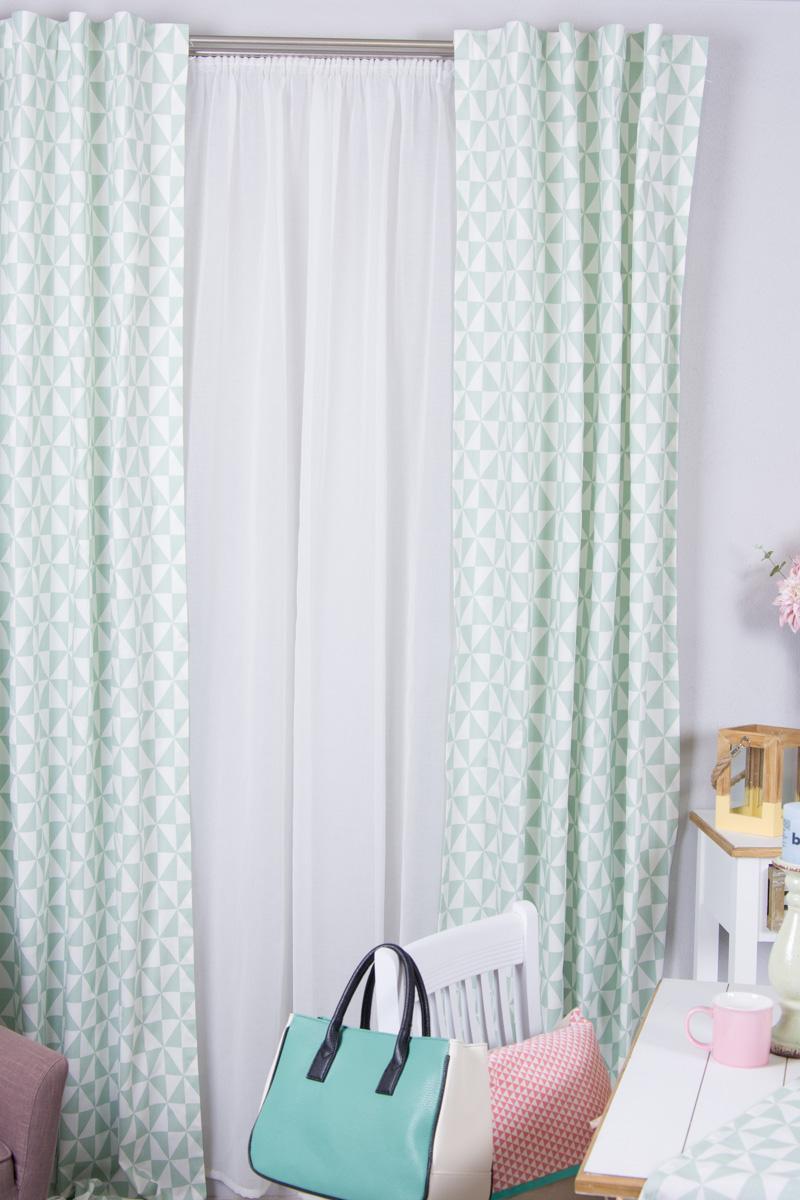 vorhangschals im pastell und geometrie look. Black Bedroom Furniture Sets. Home Design Ideas