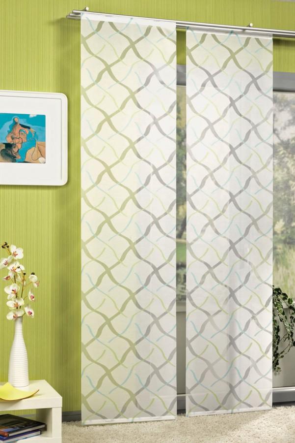 schiebevorhang fl chenvorhang sambucca t rkis gr n. Black Bedroom Furniture Sets. Home Design Ideas