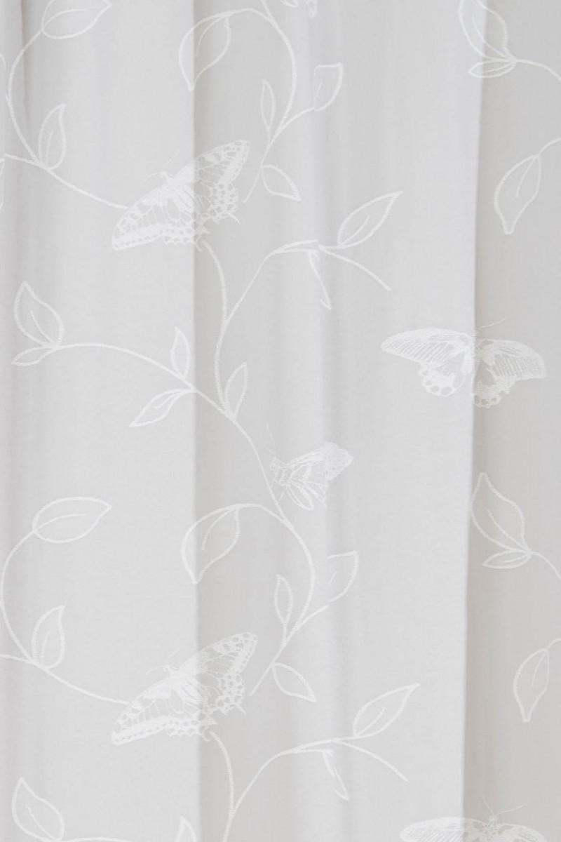 schlaufenvorhang fertigvorhang mit schlaufen und kr uselband fara schmetterling 245x140cm grau. Black Bedroom Furniture Sets. Home Design Ideas