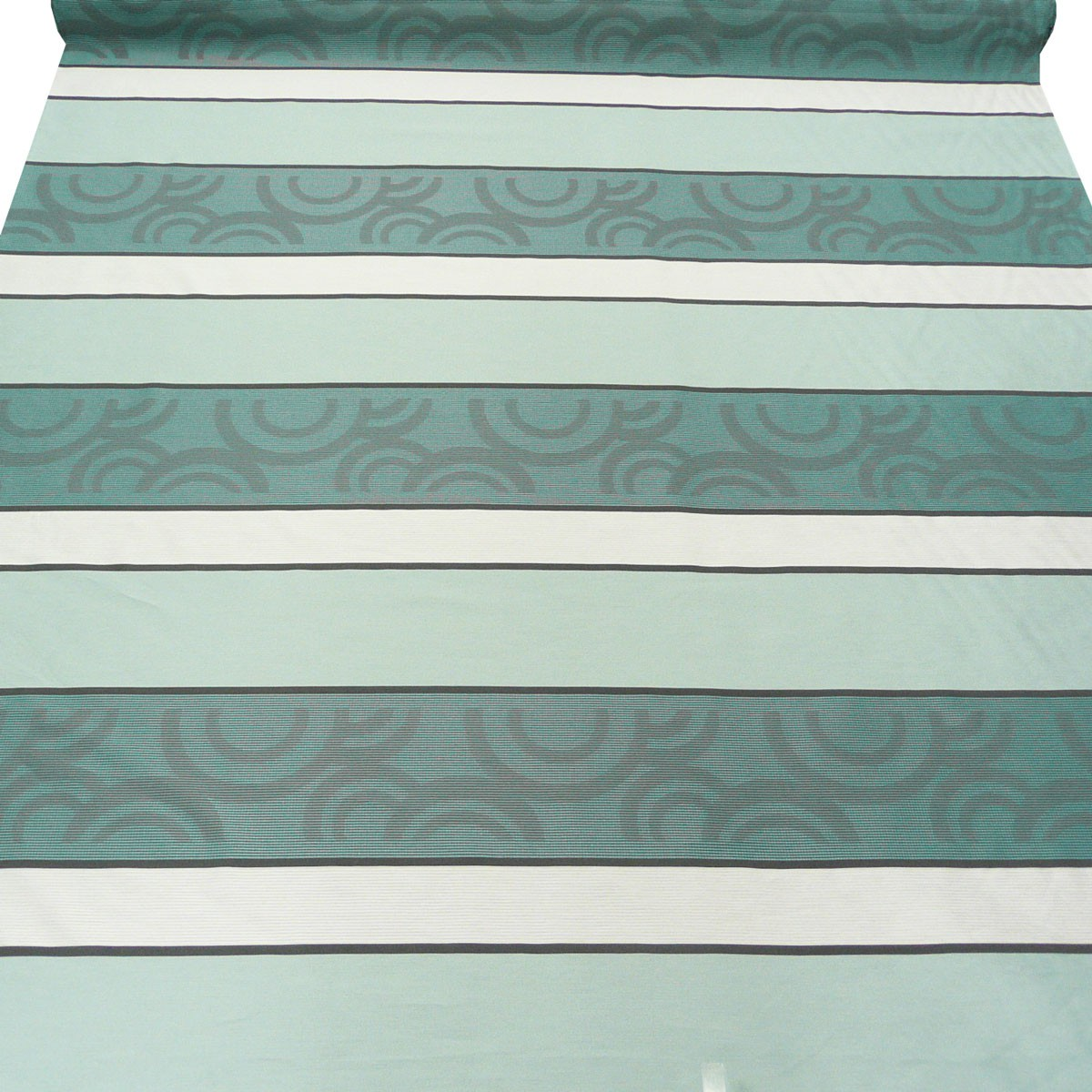 gardinenstoff meterware colorado petrol grau creme 1 50m. Black Bedroom Furniture Sets. Home Design Ideas